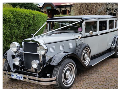 1929 Silver Dodge Limo Hire – Silver and Black