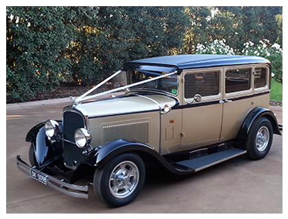 1929 Gold Dodge Sedan Hire – Gold and Black